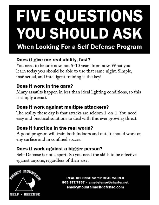 Five Questions You Should Ask When Looking for a Self-Defense Program